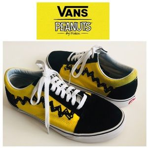 VANS Old Skool Peanuts Charlie Brown Size 8